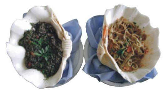 Crni rižot i zeleni rezanci Villa Neretva